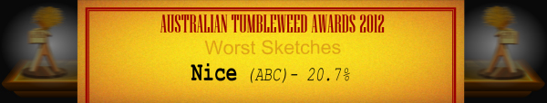 Australian Tumbleweed Awards 2012 - Wost Sketches - Runner-Up: Nice (ABC) - 20.7%