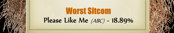 Worst Sitcom - RUNNER UP: Please Like Me (ABC) - 18.89%