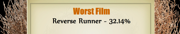 Worst Film - RUNNER UP: Reverse Runner - 32.14%