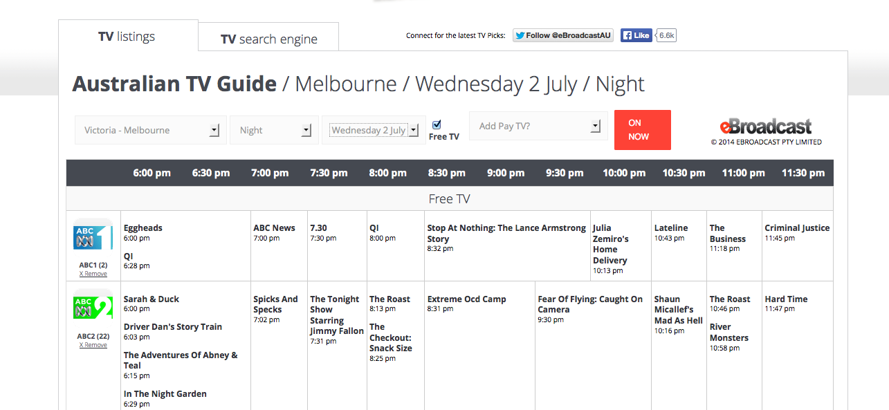 free to air tv guide nsw