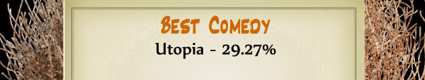 Australian Tumbleweed Awards 2015 - Best Comedy - Runner Up - Utopia - 29.27%