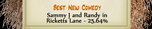 Australian Tumbleweed Awards 2015 - Best New Comedy - Runner Up - Sammy J and Randy in Ricketts Lane - 25.64%