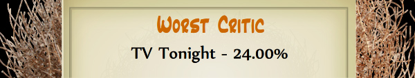 Australian Tumbleweed Awards 2015 - Worst Critic - Runner Up - TV Tonight - 24.00%
