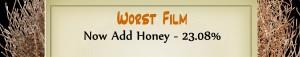 Australian Tumbleweed Awards 2015 – Worst Film – Runner Up – Now Add Honey – 23.08%