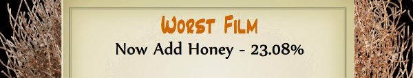 Australian Tumbleweed Awards 2015 - Worst Film - Runner Up - Now Add Honey - 23.08%