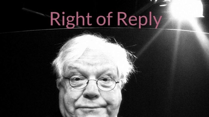 Bryan Dawe as Sir Murray Rivers in Right of Reply
