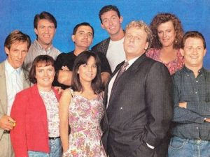 The cast of The Comedy Company