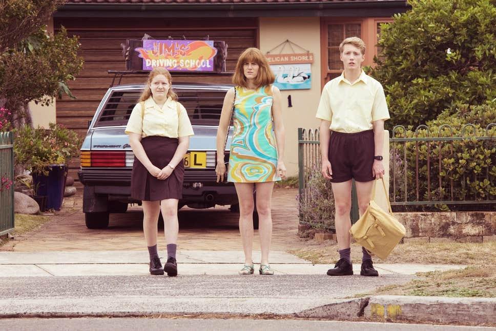 Maggie Ireland-Jones, Sarah Kendall and Frazer Hadfield in Frayed